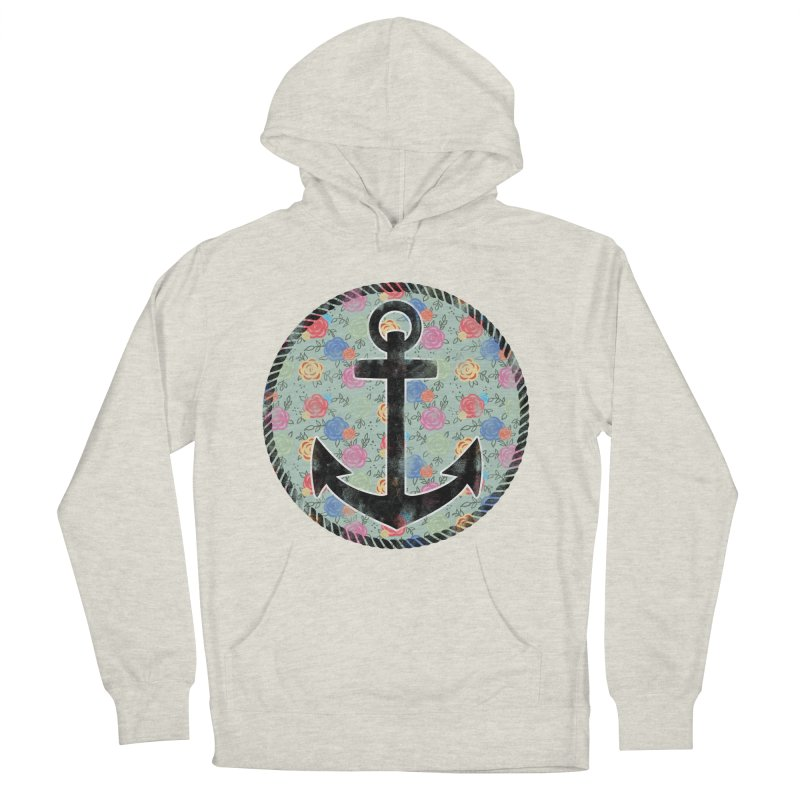 Anchor on Flowers Men's Pullover Hoody by Pinup Bombshells Artist Shop