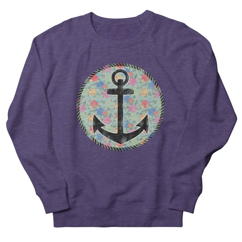 Anchor on Flowers Women's Sweatshirt by Pinup Bombshells Artist Shop