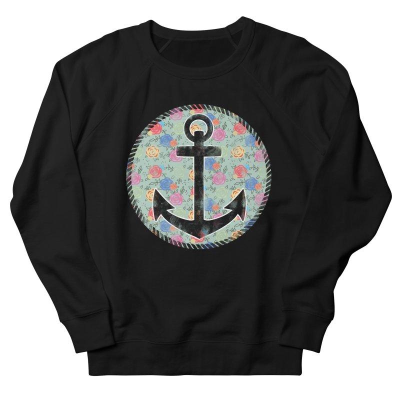 Anchor on Flowers Women's Sweatshirt by Pinup Bombshells Artist Shop