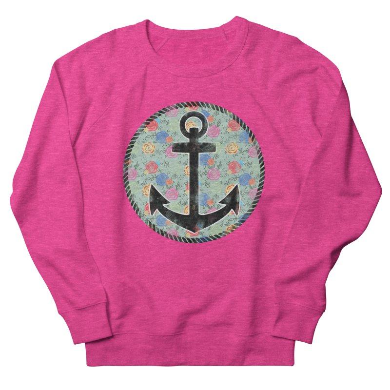 Anchor on Flowers Men's Sweatshirt by Pinup Bombshells Artist Shop