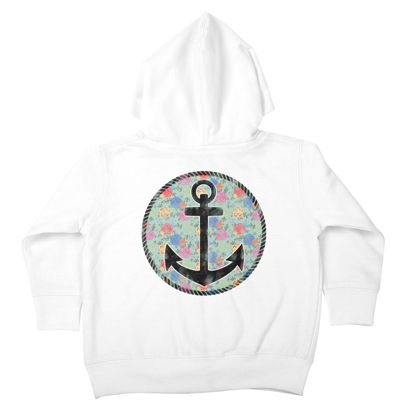 Anchor on Flowers Kids Toddler Zip-Up Hoody by Pinup Bombshells Artist Shop