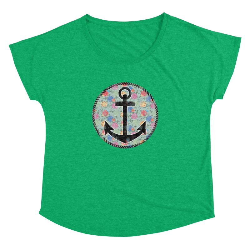 Anchor on Flowers Women's Dolman by Pinup Bombshells Artist Shop