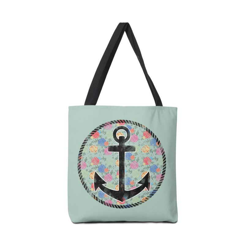 Anchor on Flowers Accessories Bag by Pinup Bombshells Artist Shop