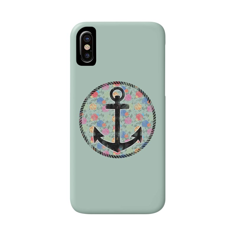 Anchor on Flowers Accessories Phone Case by Pinup Bombshells Artist Shop