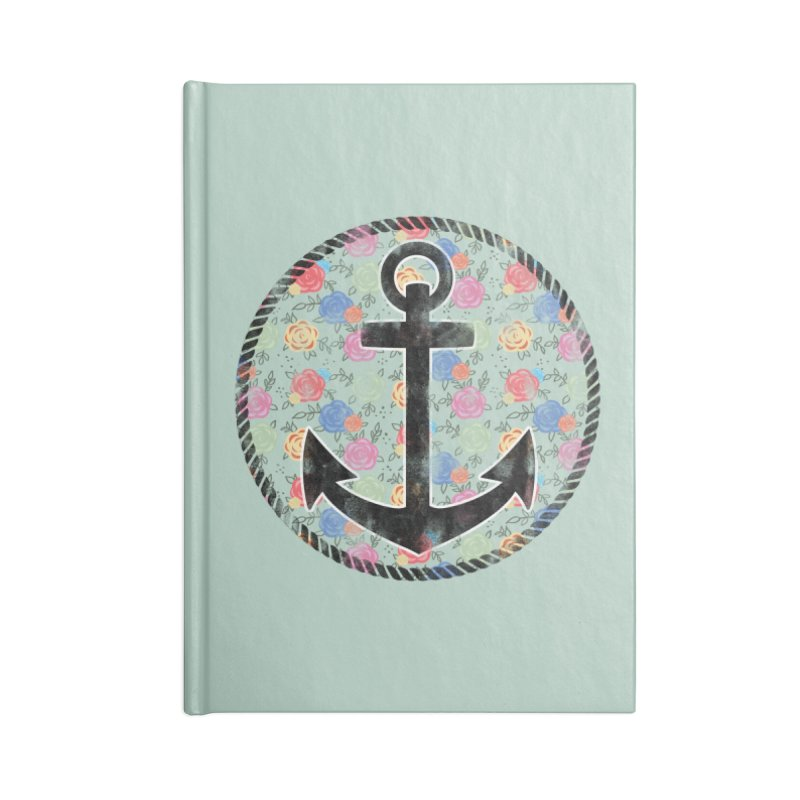 Anchor on Flowers Accessories Notebook by Pinup Bombshells Artist Shop