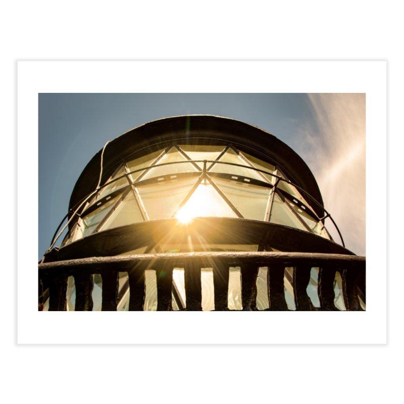 Sun Reflection on Glass Jupiter Lighthouse Coastal Landscape Photo Home Fine Art Print by PIPA Wall Art & Home Decor