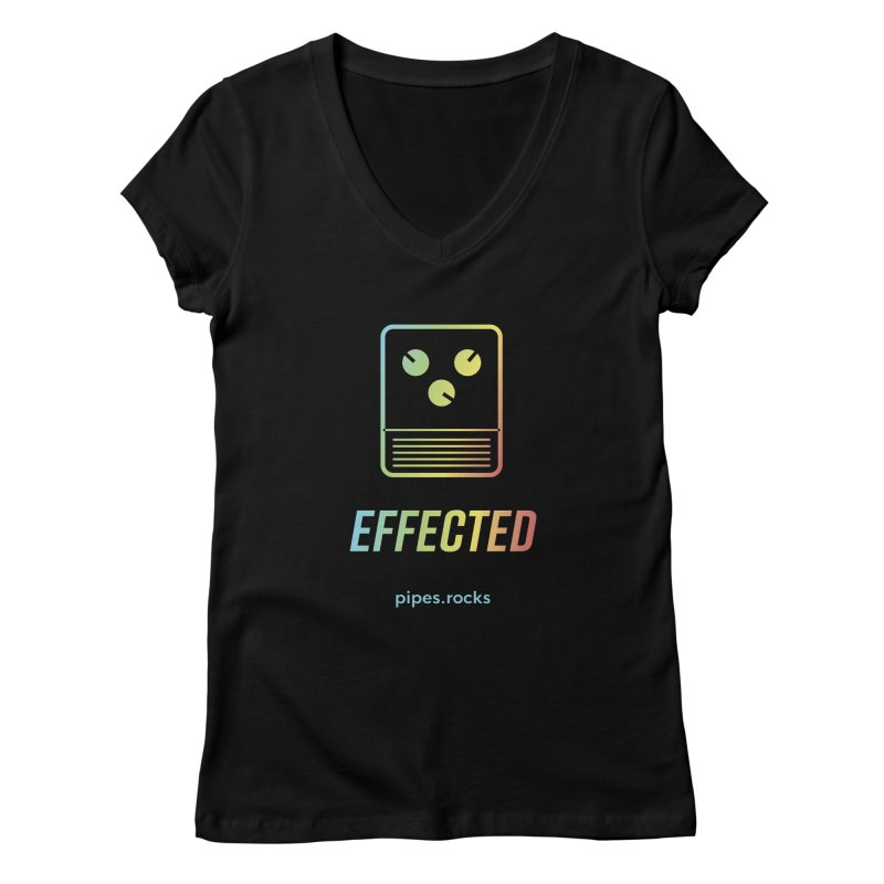 EFFECTED Women's Regular V-Neck by pipes's Artist Shop