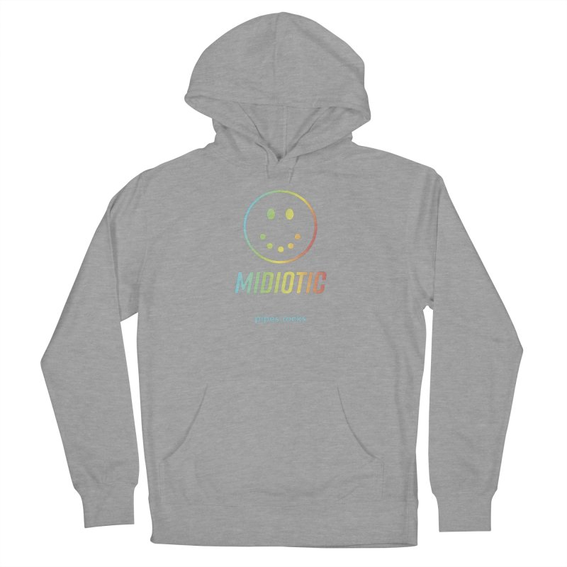 MIDIOTIC Women's French Terry Pullover Hoody by pipes's Artist Shop
