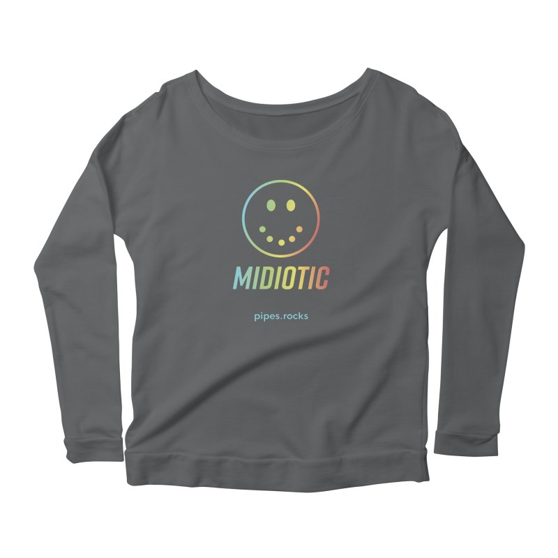 MIDIOTIC Women's Longsleeve T-Shirt by pipes's Artist Shop
