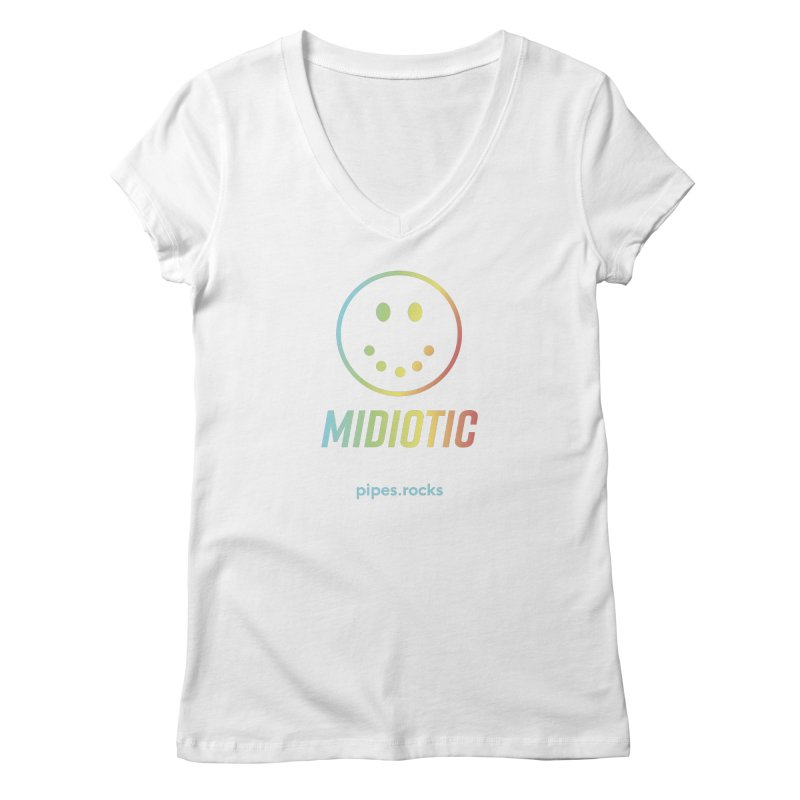 MIDIOTIC Women's Regular V-Neck by pipes's Artist Shop