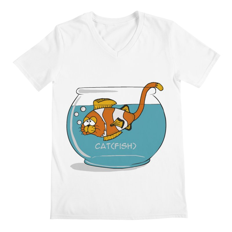 Cat(fish) Men's V-Neck by pir's Artist Shop