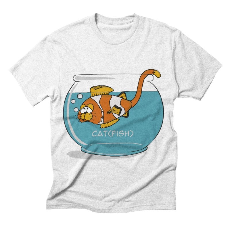 Cat(fish) Men's Triblend T-shirt by pir's Artist Shop