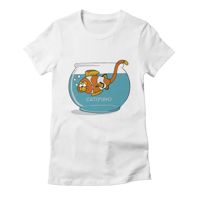 Cat(fish) Women's Fitted T-Shirt by pir's Artist Shop