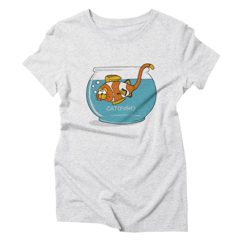Cat(fish) Women's Triblend T-shirt by pir's Artist Shop