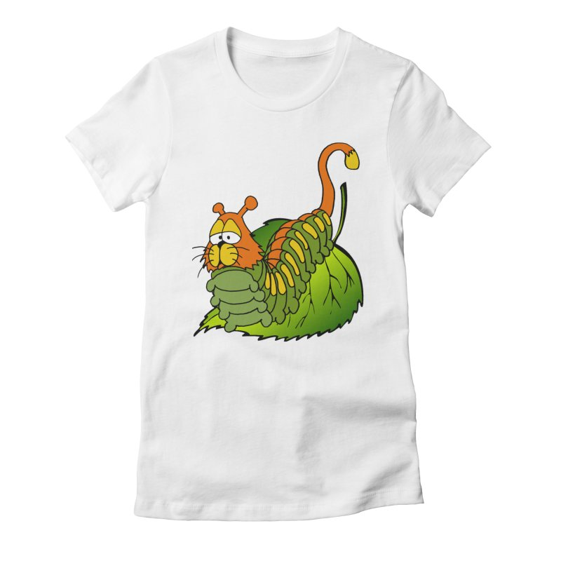 Cat(erpillar) Women's Fitted T-Shirt by pir's Artist Shop
