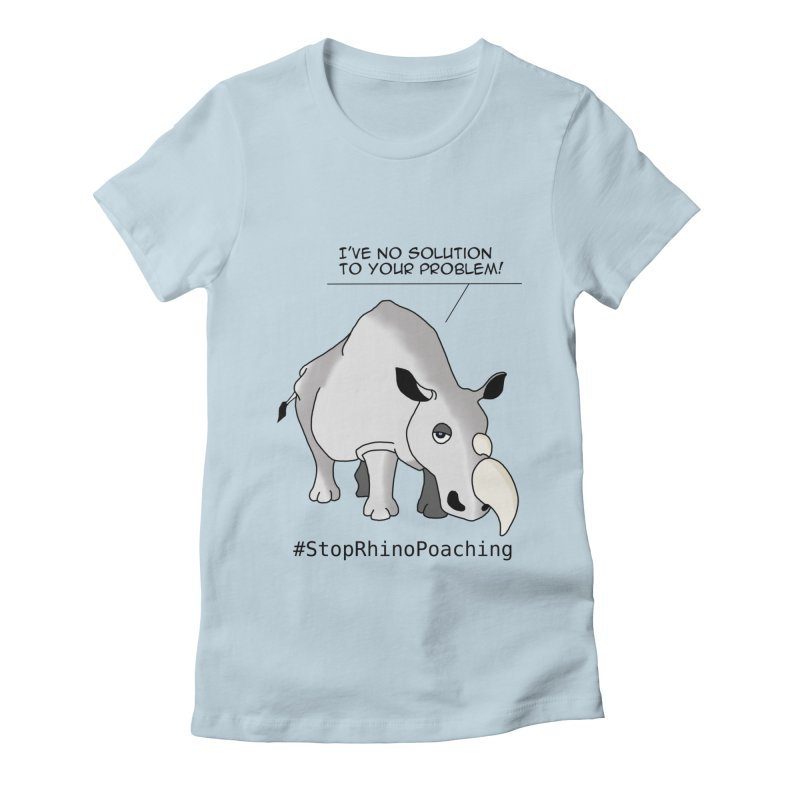 #HornNotHorny Women's Fitted T-Shirt by pir's Artist Shop