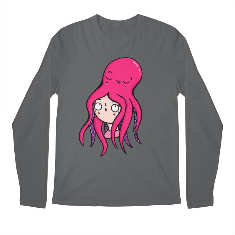 Octopus Surprise Men's Longsleeve T-Shirt by Piratart Illustration
