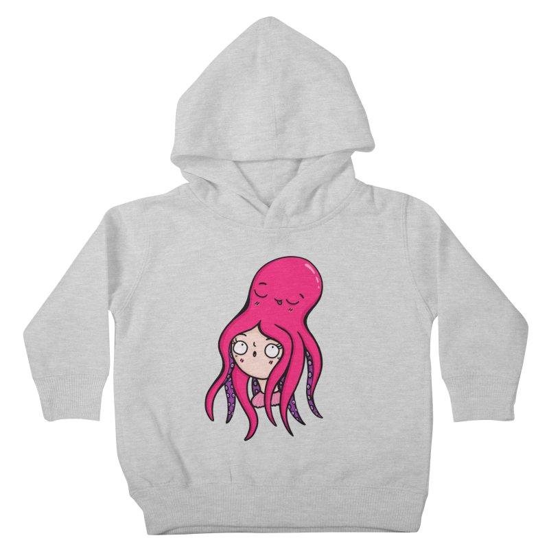 Octopus Surprise Kids Toddler Pullover Hoody by Piratart Illustration
