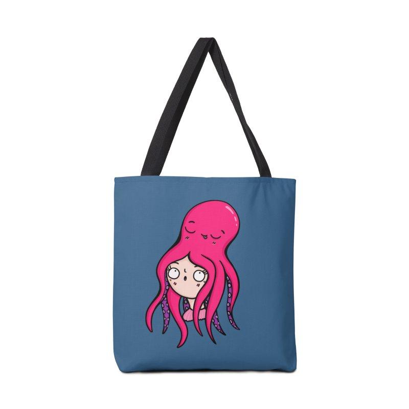 Octopus Surprise Accessories Bag by Piratart Illustration