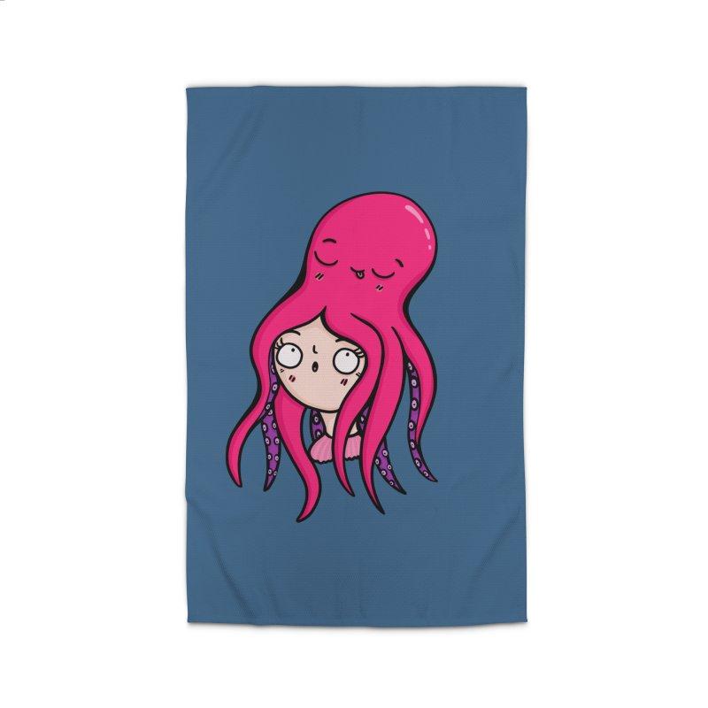 Octopus Surprise Home Rug by Piratart Illustration
