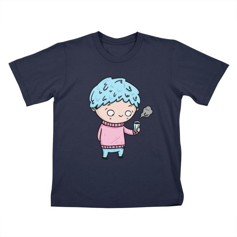 Tea Boy Kids T-Shirt by Piratart Illustration