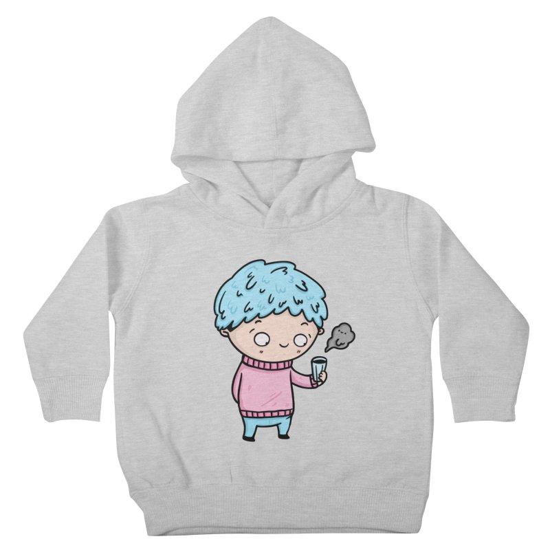 Tea Boy Kids Toddler Pullover Hoody by Piratart Illustration