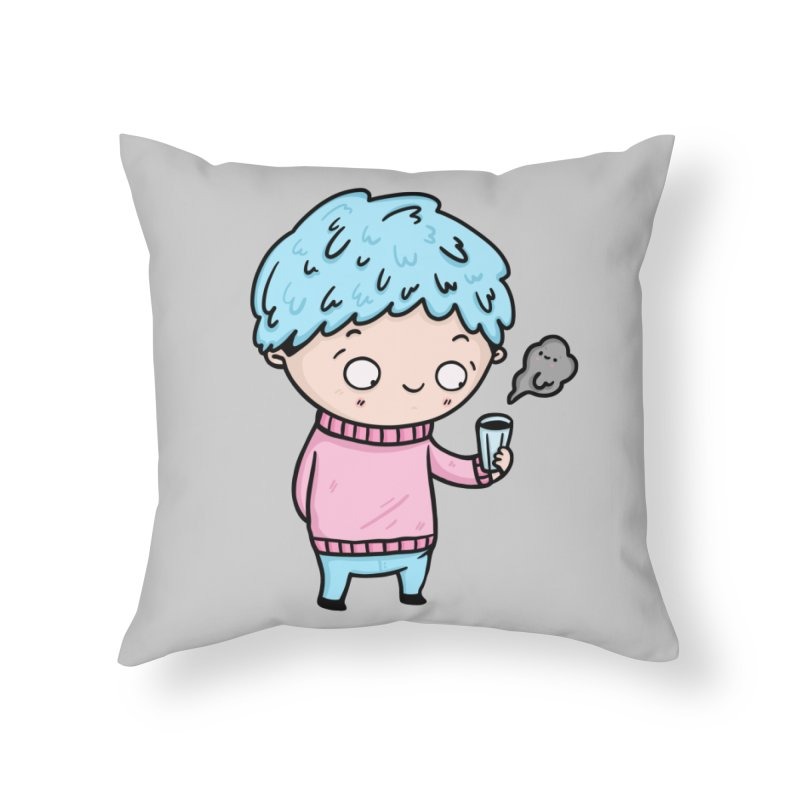Tea Boy Home Throw Pillow by Piratart Illustration