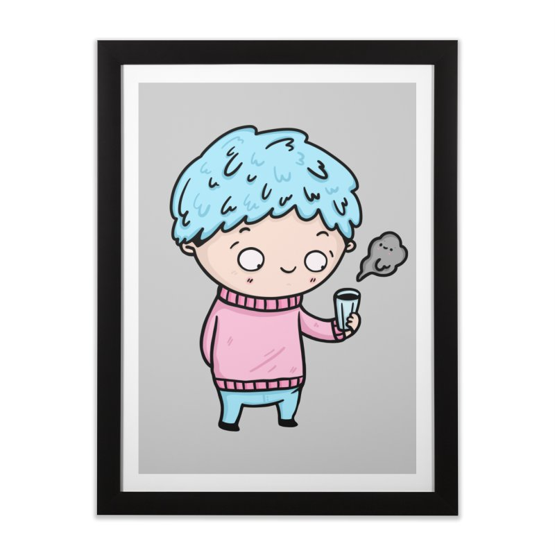 Tea Boy Home Framed Fine Art Print by Piratart Illustration