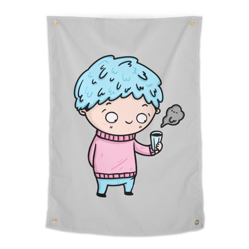 Tea Boy Home Tapestry by Piratart Illustration