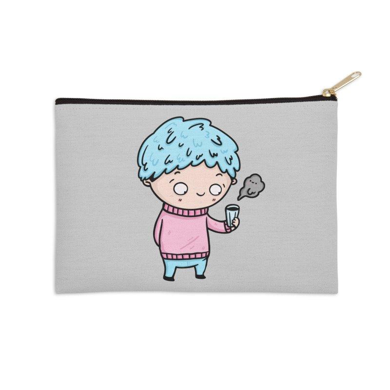 Tea Boy Accessories Zip Pouch by Piratart Illustration