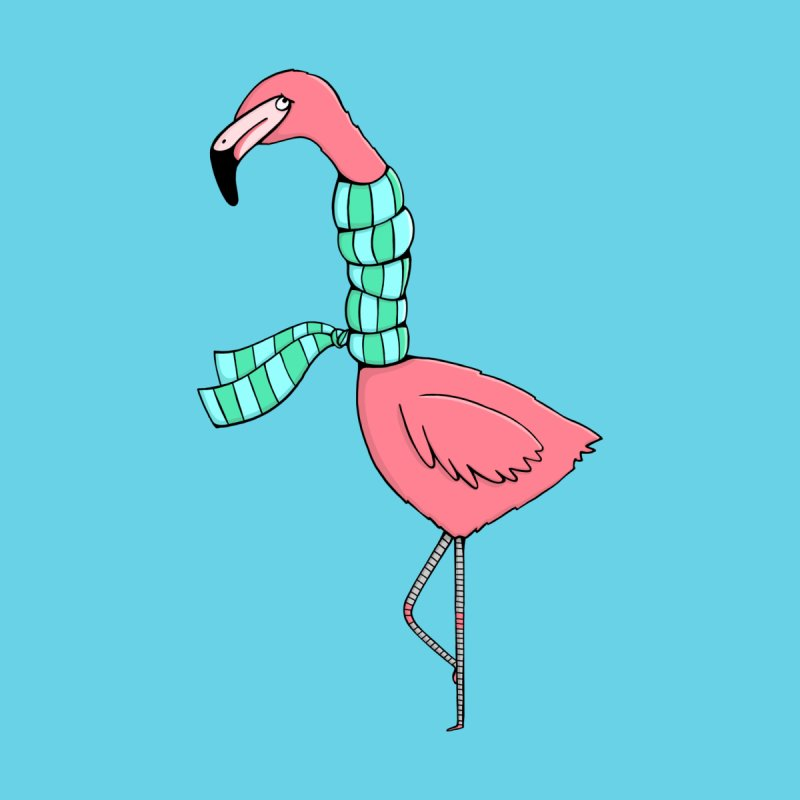 Flamingo Flu Men's T-Shirt by Piratart Illustration