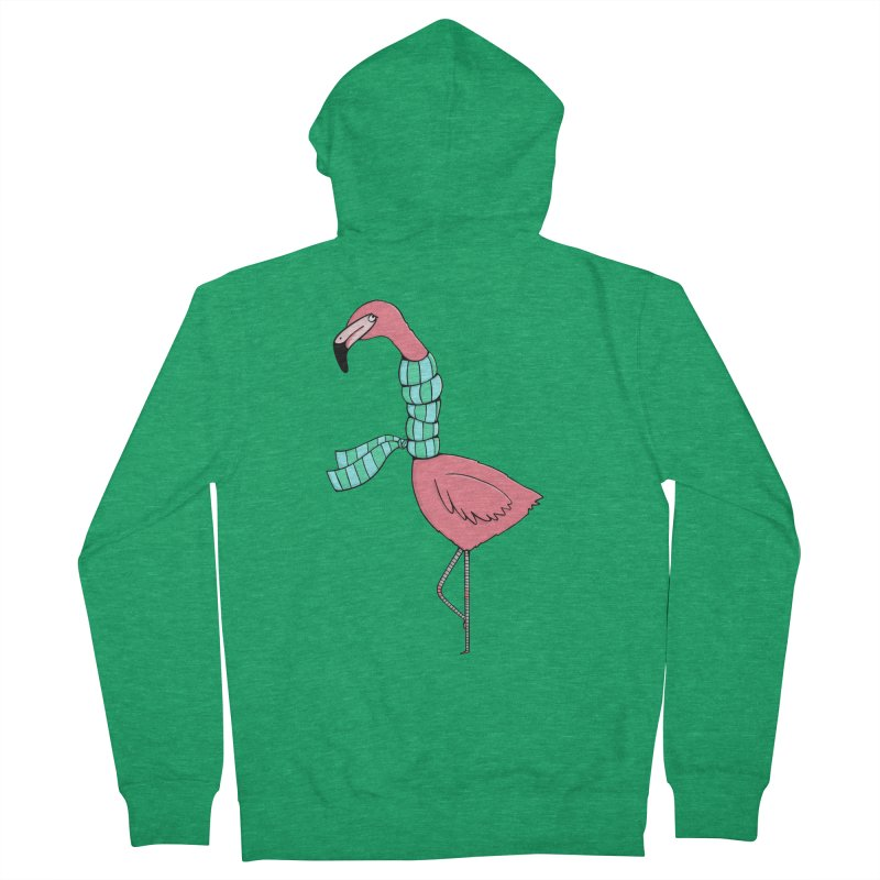 Flamingo Flu Women's Zip-Up Hoody by Piratart Illustration