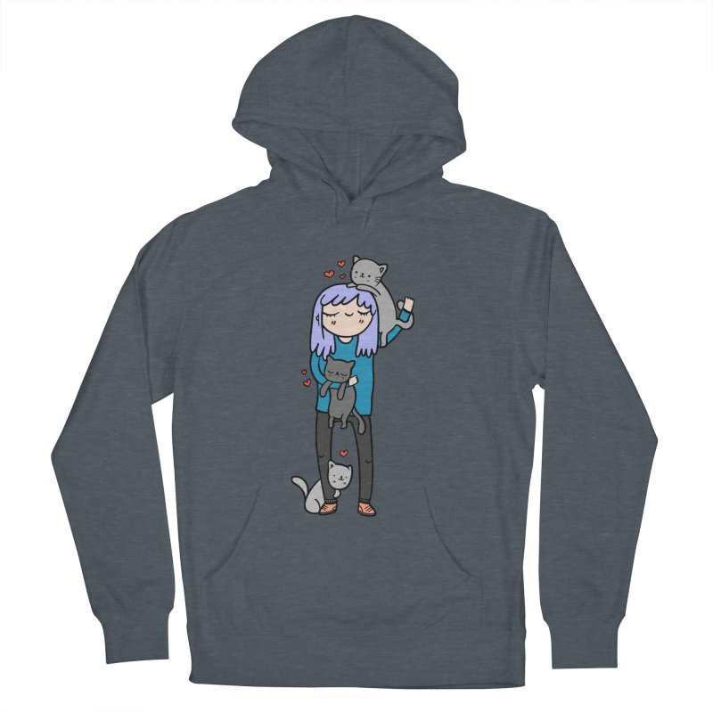 Catlady Women's Pullover Hoody by Piratart Illustration