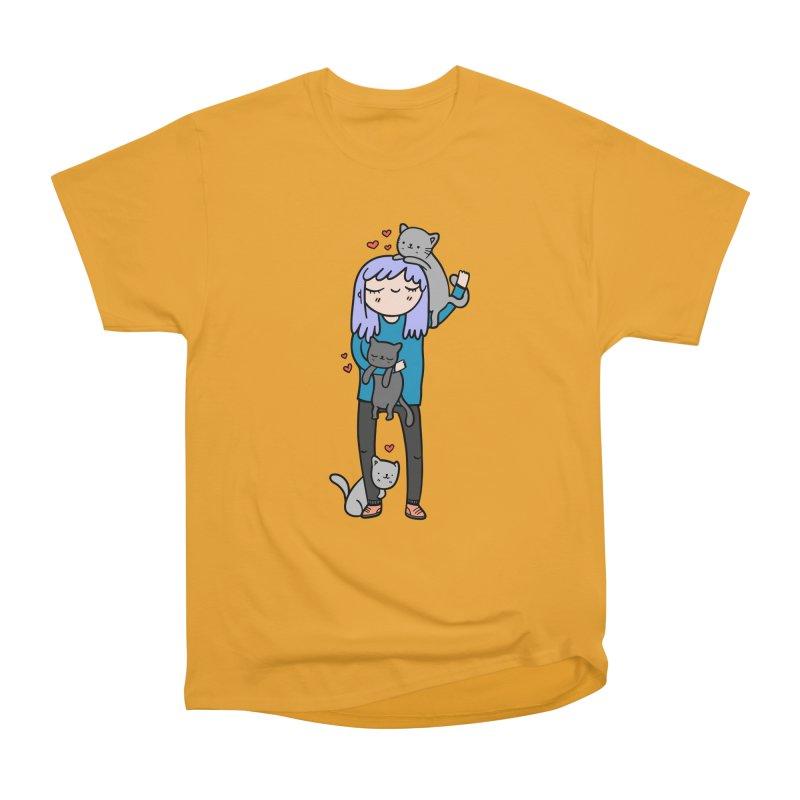 Catlady Men's Classic T-Shirt by Piratart Illustration