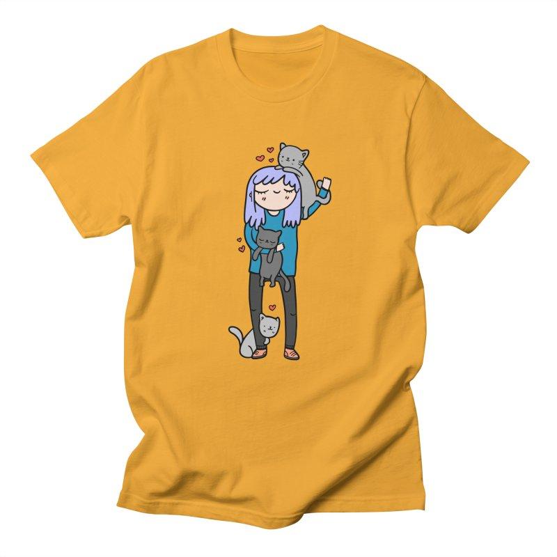 Catlady Men's T-Shirt by Piratart Illustration