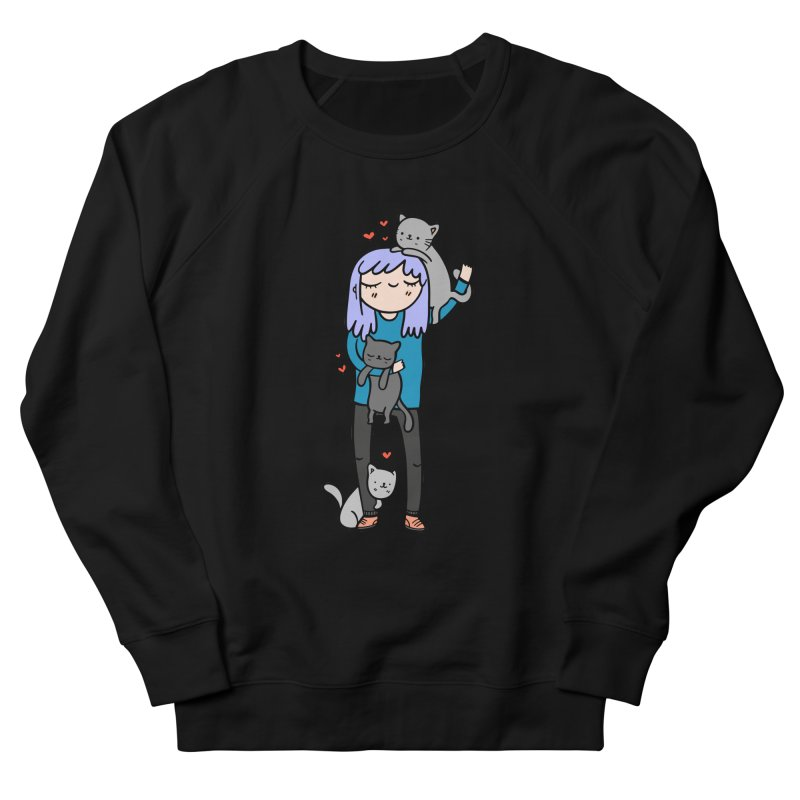 Catlady Men's Sweatshirt by Piratart Illustration