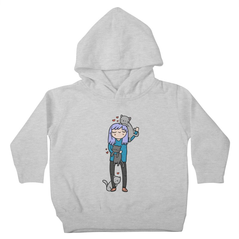 Catlady Kids Toddler Pullover Hoody by Piratart Illustration
