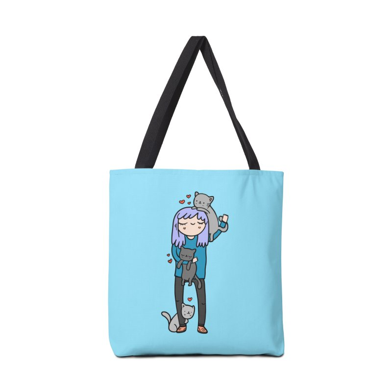 Catlady Accessories Bag by Piratart Illustration