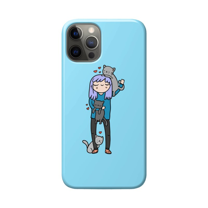 Catlady Accessories Phone Case by Piratart Illustration