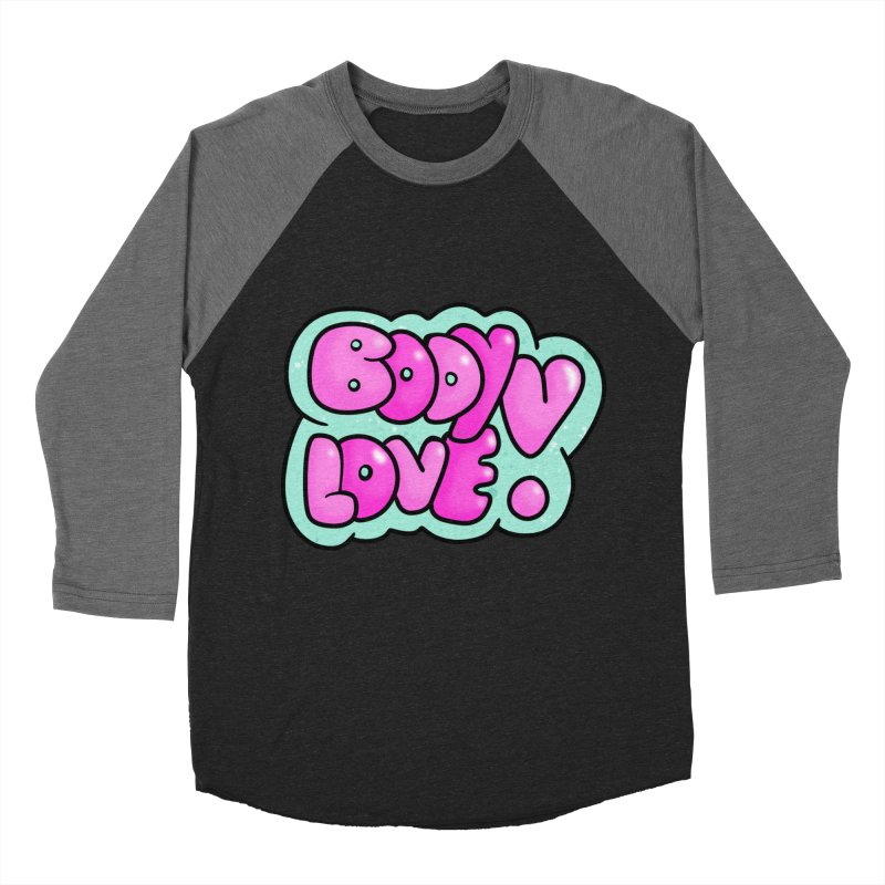 Body Love Women's Baseball Triblend Longsleeve T-Shirt by Piratart Illustration