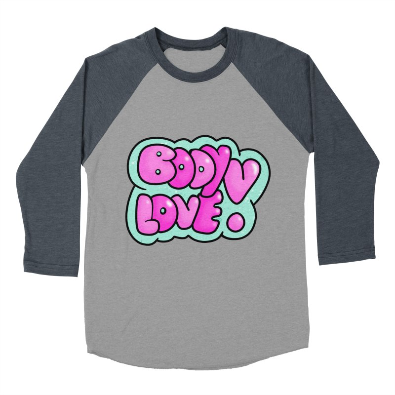 Body Love Women's Baseball Triblend T-Shirt by Piratart Illustration