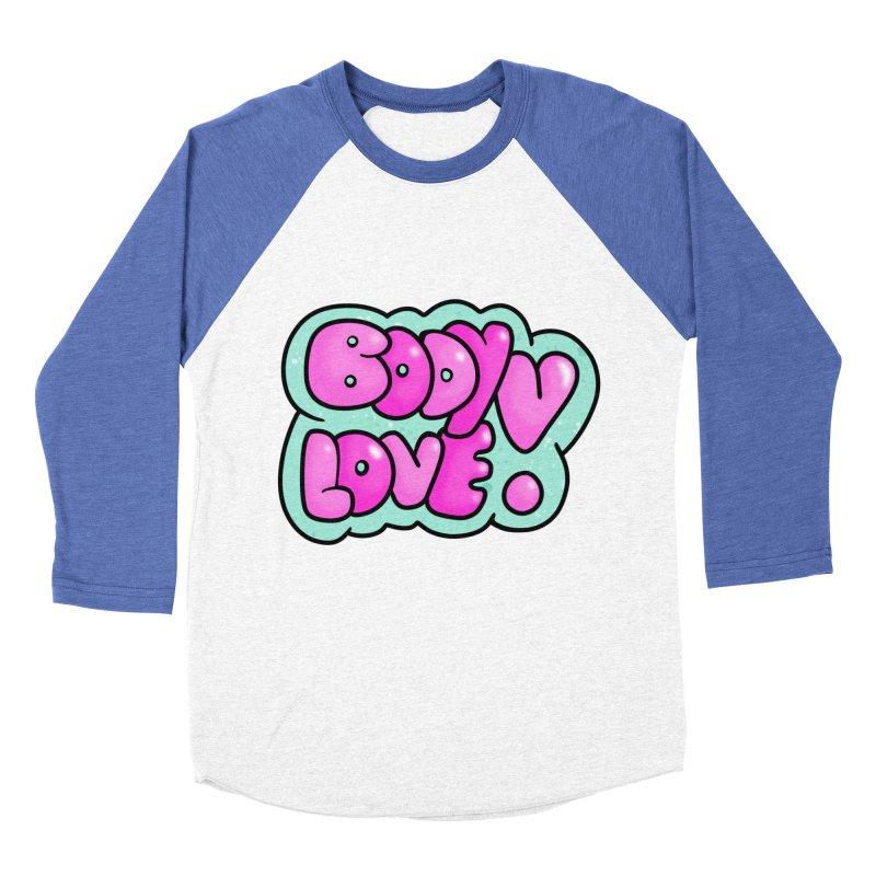 Body Love Men's Baseball Triblend T-Shirt by Piratart Illustration
