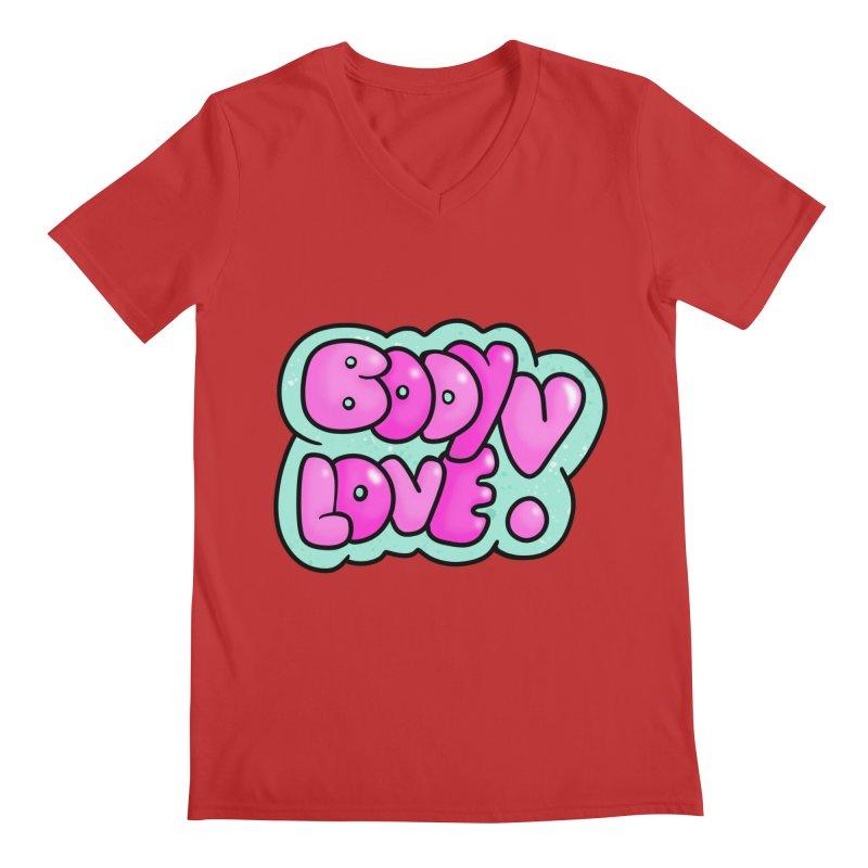 Body Love Men's Regular V-Neck by Piratart Illustration