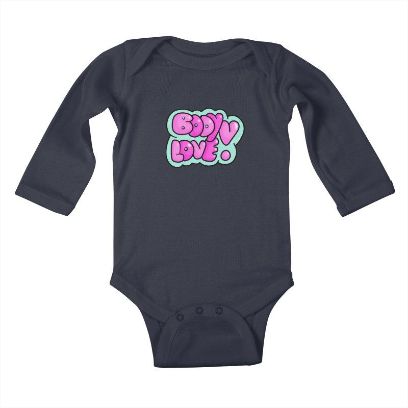 Body Love Kids Baby Longsleeve Bodysuit by Piratart Illustration