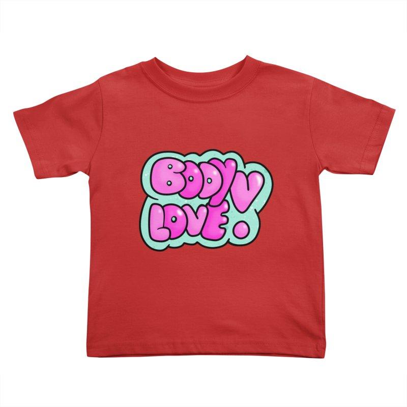 Body Love Kids Toddler T-Shirt by Piratart Illustration