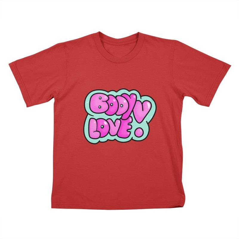 Body Love Kids T-Shirt by Piratart Illustration