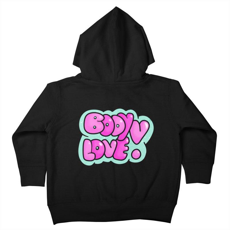 Body Love Kids Toddler Zip-Up Hoody by Piratart Illustration