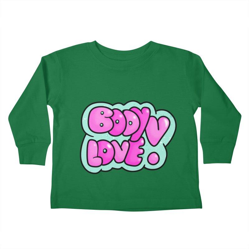 Body Love Kids Toddler Longsleeve T-Shirt by Piratart Illustration