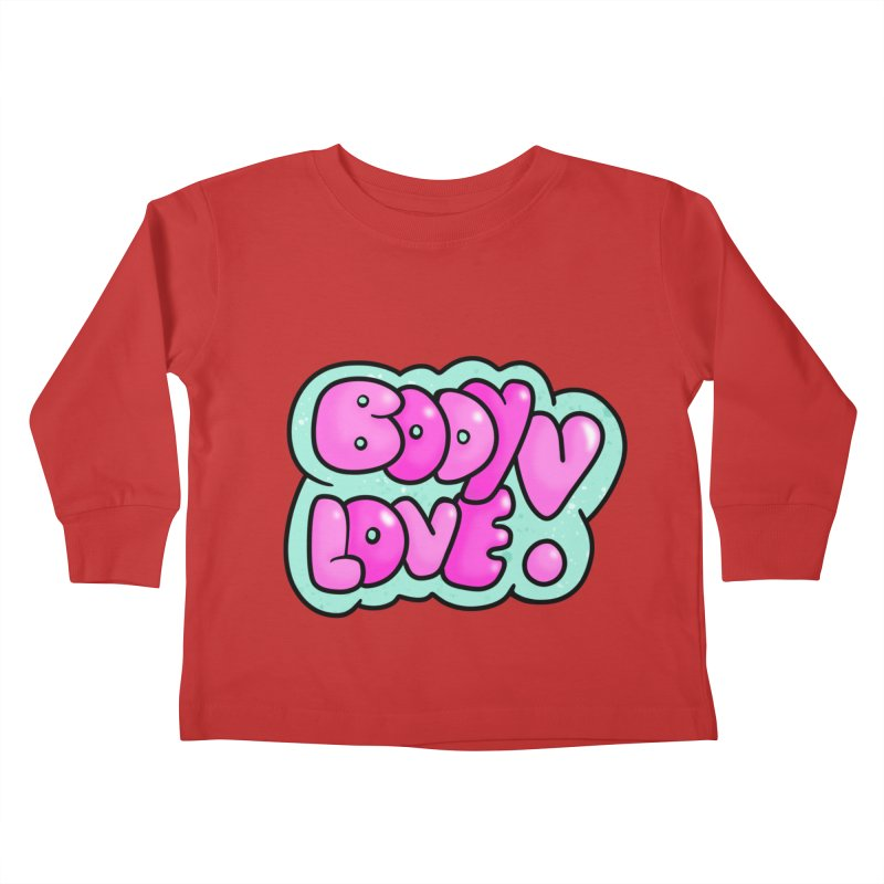 Body Love Kids Toddler Longsleeve T-Shirt by Piratart Illustration