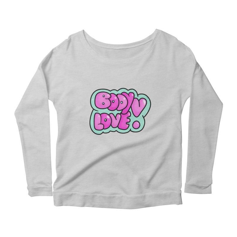 Body Love Women's Scoop Neck Longsleeve T-Shirt by Piratart Illustration